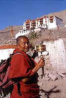 Lama at Stok Palace, Ladakh