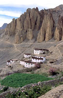 High-altitude village, Spiti District